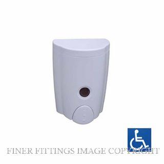 METLAM ML663W LIQUID SOAP DISPENSER 580ML CAPACITY WHITE ABS