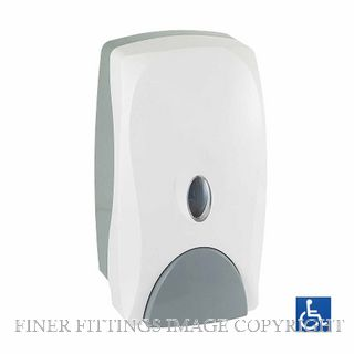 METLAM ML681F FOAM SOAP DISPENSER 750ML CAPACITY WHITE ABS