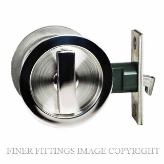 NIDUS SCD PRI RD PSS SLIDING CAVITY PRIVACY SET INCL END PULL POLISHED STAINLESS
