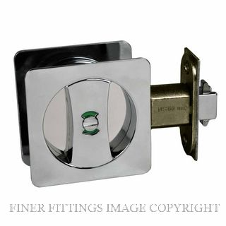 NIDUS CSC PRI SQ CP V SLIDING DOOR SQUARE PRIVACY SET CHROME PLATE