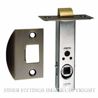 NIDUS LATDS60 AB DUAL SPRUNG 60MM-7.6MM SPINDLE TUBULAR LATCH ANTIQUE BRASS
