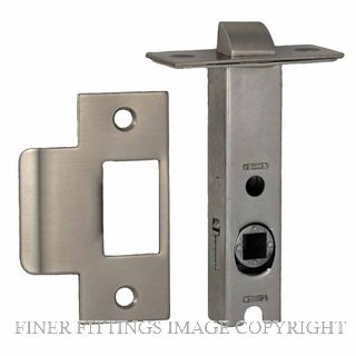 NIDUS LATDS60SS DUAL SPRUNG 60MM-8MM SPINDLE TUBULAR LATCH SATIN STAINLESS