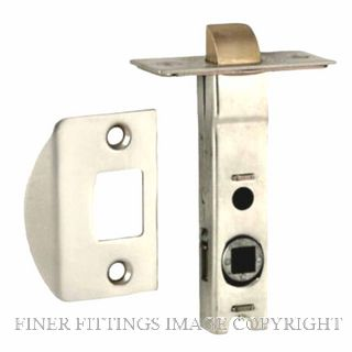 NIDUS LATDS60CP DUAL SPRUNG 60MM-7.6MM SPINDLE TUBULAR LATCH CHROME PLATE