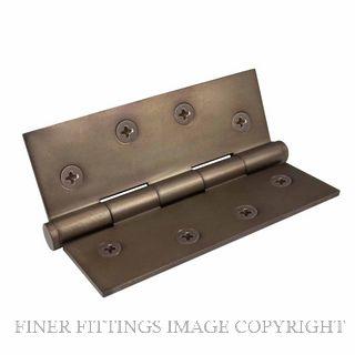 WINDSOR 5902 MAB HINGE BRASS FIXED PIN BALL TIP 102X76 MATT ANTIQUE BRONZE
