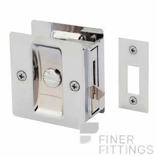 GAINSBOROUGH 393BCS CAVITY DOOR LOCK PRIVACY CHROME PLATE