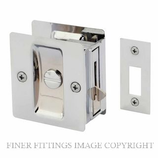 GAINSBOROUGH 393BCS CAVITY DOOR LOCK PRIVACY CHROME PLATE