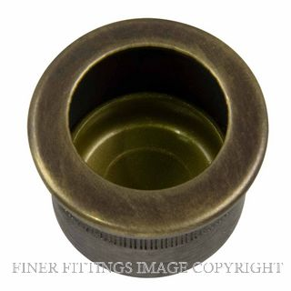 WINDSOR BRASS 8088 OR CIRCULAR FINGER PULL OIL RUBBED BRONZE