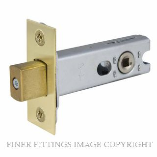 WINDSOR BRASS 1173 57MM HEAVY DUTY TUBULAR PRIVACY BOLT UNLACQUERED SATIN BRASS