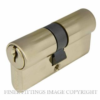 WINDSOR BRASS 1121 60MM EURO DOUBLE CYLINDER - KEY/KEY UNLACQUERED SATIN BRASS
