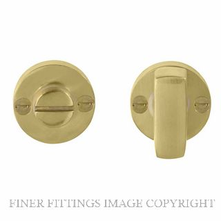 WINDSOR BRASS 5192 PRIVACY TURN & RELEASE UNLACQUERED BRASS
