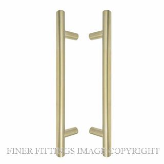 WINDSOR 8190 USB PULL HANDLE BACK TO BACK 300MM OA UNLACQUERED SATIN BRASS