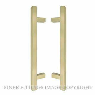 WINDSOR 8192 USB PULL HANDLE BACK TO BACK 300 OA UNLACQUERED SATIN BRASS