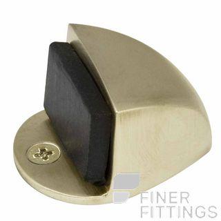 WINDSOR 5062 USB 22MM DOORSTOP FLOOR MOUNT UNLACQUERED SATIN BRASS