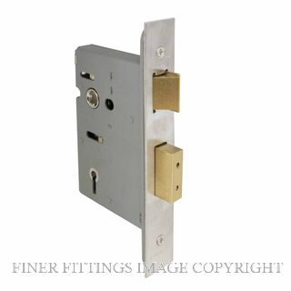 WINDSOR 1104 SS 57MM 5 LEVER MORTICE LOCK STAINLESS STEEL 304