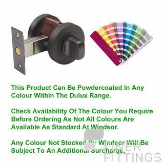 WINDSOR 9034 PC PRIVACY TURN SET 60MM BOLT POWDERCOAT