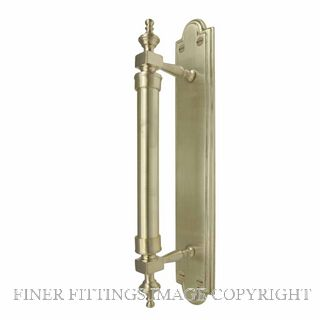 WINDSOR 5038 USB PULL HANDLE ON BACK PLATE UNLACQUERED SATIN BRASS