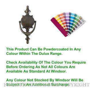 WINDSOR 3034 PC DOOR KNOCKER 210X95MM POWDER COAT