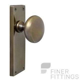 WINDSOR 3002-3016 VICTORIAN KNOB ON PLATE OIL RUBBED BRONZE