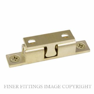 WINDSOR 5015-5016 DOUBLE BALL CATCHES UNLACQUERED SATIN BRASS