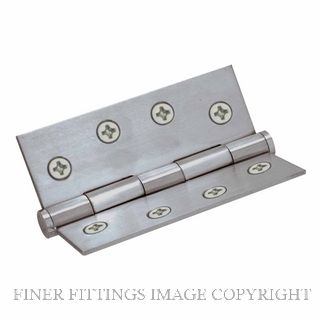 WINDSOR 5903 SS HINGE FIXED PIN FLAT TIP 102X76 SATIN STAINLESS