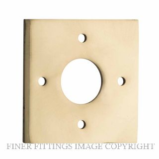 IVER 0240 PB ADAPTOR PLATE SQUARE - SUIT 54mm HOLE (SOLD AS A PAIR) POLISHED BRASS