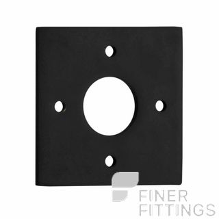 IVER 0243 BLK ADAPTOR PLATE SQUARE - SUIT 54mm HOLE (SOLD AS A PAIR) MATT BLACK