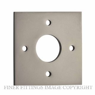 IVER 0249 SN ADAPTOR PLATE SQUARE - SUIT 54mm HOLE (SOLD AS A PAIR) SATIN NICKEL