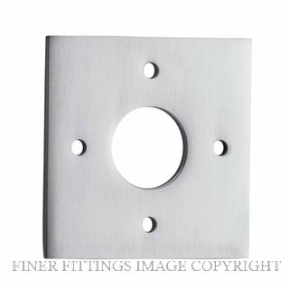 IVER 0245 SC ADAPTOR PLATE SQUARE - SUIT 54mm HOLE (SOLD AS A PAIR) SATIN CHROME