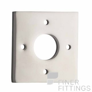 IVER 0248 PN ADAPTOR PLATE SQUARE - SUIT 54mm HOLE (SOLD AS A PAIR) POLISHED NICKEL