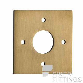 IVER 0251 BB ADAPTOR PLATE SQUARE - SUIT 54mm HOLE (SOLD AS A PAIR) BRUSHED BRASS
