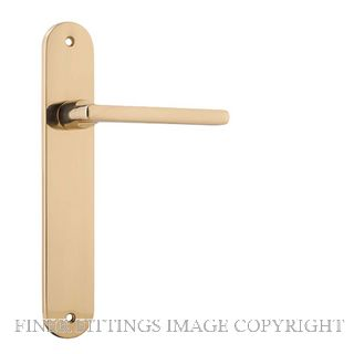 IVER 10226 BALTIMORE OVAL PLATE POLISHED BRASS