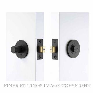 WINDSOR 8400 BLK NIDO TURN & RELEASE PRIVACY SET MATT BLACK