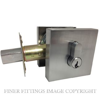 MNDEAD1 S RANGE SQUARE DEADBOLT SATIN CHROME