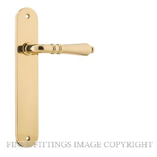 IVER 10224 SARLAT OVAL PLATE POLISHED BRASS
