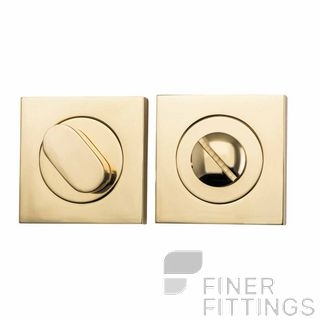 IVER 20030 SQUARE PRIVACY SET 52MM POLISHED BRASS