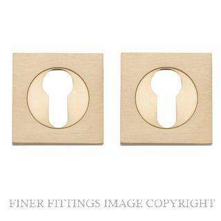 IVER 20043 SQUARE EURO ESCUTCHEON 52MM BRUSHED BRASS