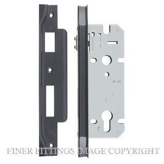IVER 6072 - 6073 ROLLER BOLT LOCK MATT BLACK