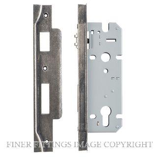 IVER 6088 - 6089 ROLLER BOLT LOCK DISTRESSED NICKEL