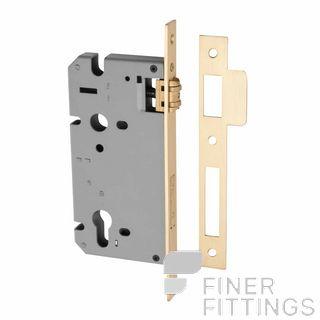 IVER 6110 - 6111 ROLLER BOLT LOCK BRUSHED BRASS