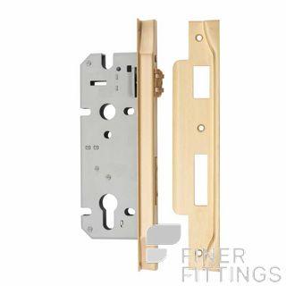 IVER 6112 - 6113 REBATED ROLLER BOLT LOCK BRUSHED BRASS