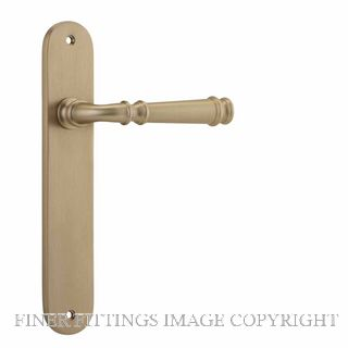 IVER 13230 VERONA OVAL PLATE BRUSHED BRASS