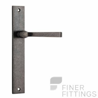 IVER 13708 ANNECY RECTANGULAR PLATE DISTRESSED NICKEL