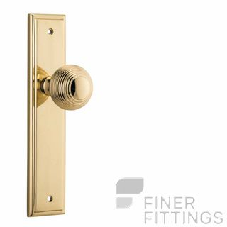 IVER 10342 GUILDFORD KNOB ON STEPPED PLATE POLISHED BRASS