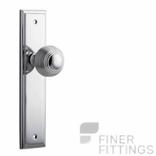 IVER 11842 GUILDFORD KNOB ON STEPPED PLATE CHROME PLATE