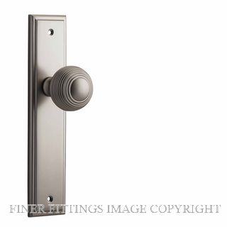 IVER 14842 GUILDFORD KNOB ON STEPPED PLATE SATIN NICKEL