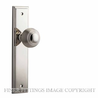 IVER 14342 GUILDFORD KNOB ON STEPPED PLATE POLISHED NICKEL