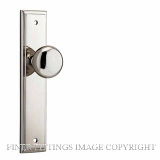 IVER 14340 CAMBRIDGE KNOB ON STEPPED PLATE POLISHED NICKEL