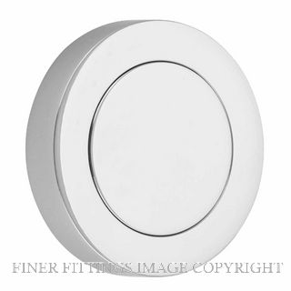 IVER 20284 ROUND BLANK FURNITURE ROSE CHROME PLATE