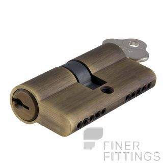IVER 21577 DUAL FUNCTION 65MM EURO LOCK CYLINDERS SIGNATURE BRASS