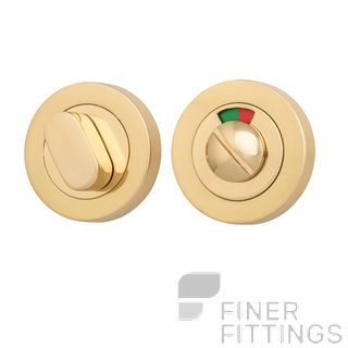 IVER 20070 ROUND INDICATING PRIVACY SET 52MM POLISHED BRASS